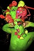 Neon is the Nu Black! (siberfi) Tags: pink light portrait orange colour green london halloween club ball de skull spider costume los neon spiders snake soho creative f1 dia fluorescent diadelosmuertos muertos colourful bp ck snakes coronet p1 se1 moonlighting fluoro londonist 2011 kashpoint halloweenball siberfi alternativemissworld cosmeticprosthetic thebritishguidetoshowingoff