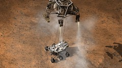 Curiosity Touching Down, Artist´s Concept