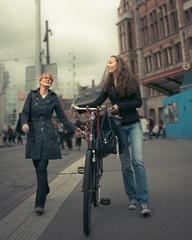 Girls on street in Amsterdam (Uitgebeeld.nl ** AKA ** Dan Kamminga) Tags: street amsterdam port nederland bicycles fiets noordholland straat promotie