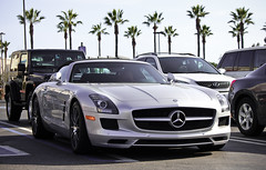 All Hail... (AESDUB) Tags: black silver mercedes benz cool convertible s l sls amg roadster slz