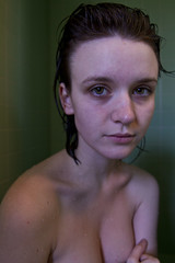 Shower Project (DharmaSimone) Tags: woman wet girl beautiful face mouth hair bathroom shower eyes hands bath pretty skin room young lips clean lovely awkward fragile