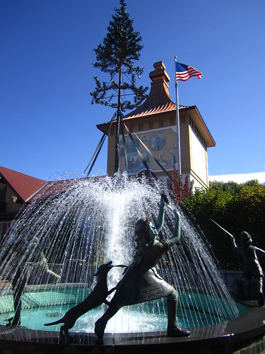 Maypole fountain
