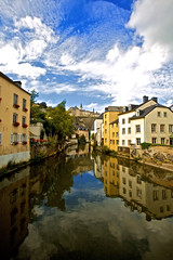 Lux_day_refelections_01_(Explored #6) (Christophe Pfeilstcker) Tags: reflection water river europe luxembourg oldcity luxembourgcity xris74