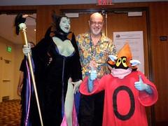 George Perez! (BelleChere) Tags: atlanta costume geek cosplay disney convention sleepingbeauty dragoncon heman georgeperez maleficent orko jscottcampbell
