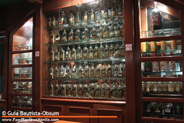 San Mig liqueur display