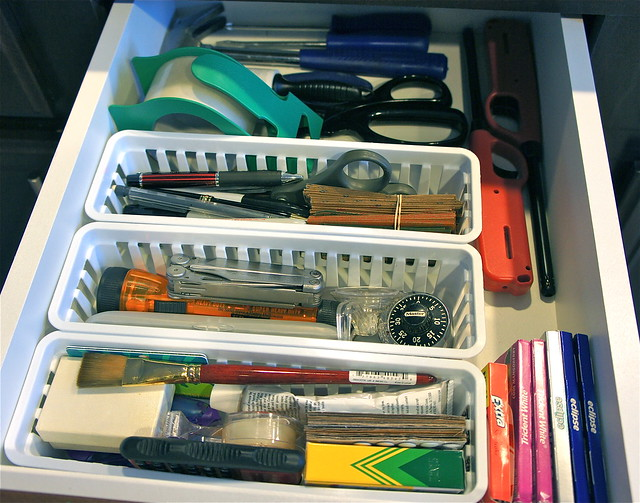 Kitchen junk drawer
