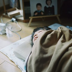 Hina was sleeping. (_kaochan) Tags: kodakportra400 rolleiflexautomat