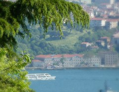 Boaz (Tulay Emekli) Tags: trees houses ferry turkey ship istanbul vapur bosphorous boaz beikta yldz thebosphorus maltakk focalsoften