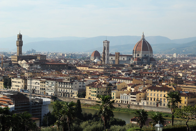 View from piazza michelangelo