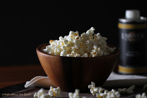 Popcorn drizzled with Walnut Oil
