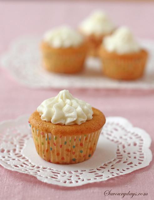 Whipped cream cupcake