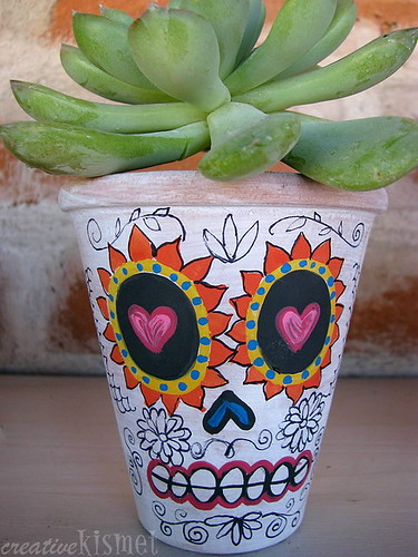 halloween gifts: day of the dead planters