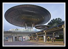 Singapore MRT Station (Top End Shooter) Tags: architecture nikon singapore modernarchitecture nikond2xs singaporemrt modernarchitecturebuildings curvedarchitecture