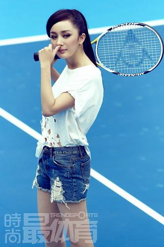 Dương Mịch chụp ảnh quần vợt 2011
