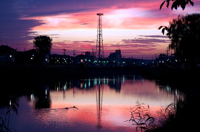 杉戸町の夕焼け