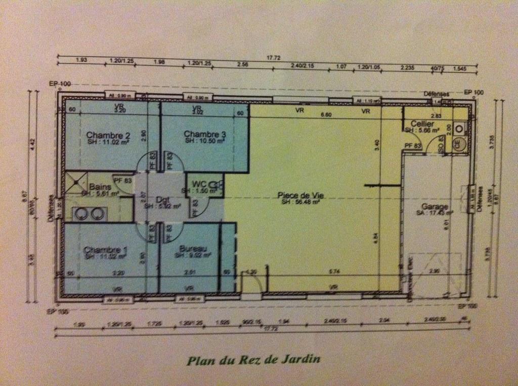 Plan maison rdc chambre nord sud ecosia