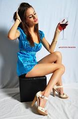 Sweet Sarah 2818 (4ELEVEN Images) Tags: blue portrait sarah studio texas wine talent romper nikond5000 4eleven 4elevenimages