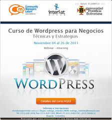 Wordpress Curso Interlat 2011 Webinar ELearning (Interlat Group) Tags: wordpress elearning curso webi
