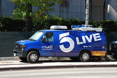 KTLA-5 (So Cal Metro) Tags: news ford television la losangeles tv media downtown satellite reporter channel5 econoline ktla localnews newsvan eseries ktla5
