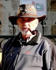 Man with pipe . (Franc Le Blanc .) Tags: pipe smoking smoker pipesmoker