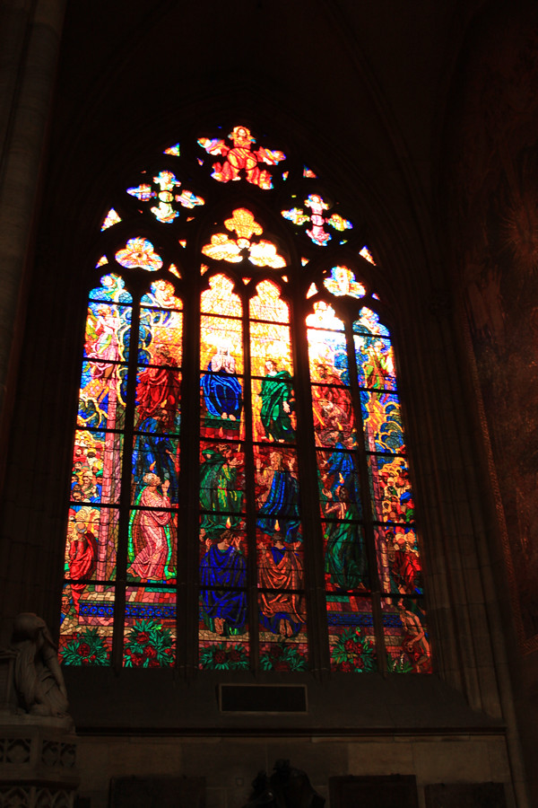 window in St. Vitus Cathedral