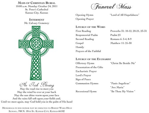 Catholic Funeral Program - FREE DOWNLOAD - The Best Home ...
