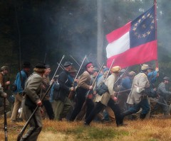 The Confederate Advance (Rob Shenk) Tags: history virginia unitedstates union confederate civilwar potomac federal reenactment csa 1861 ballsbluff 150th loudouncounty