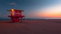 Let the day begin (jrobfoto.com) Tags: wood light red beach sunrise canon landscape sand raw lakemichigan beachhut fullframe predawn michigancity 5dmarkii jrobfotocom