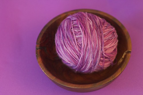 Purple Cashmere Sock Yarn