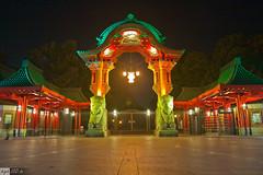 FoL 2011: Elefantentor (AndrMoel) Tags: berlin festival night zoo lights long exposure tor brandenburger langzeitbelichtung gendarmenmarkt 2011 fol