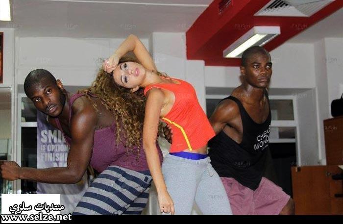 صور  ميريام فارس تتدرب على الرقص الخليجي
