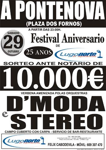 A Pontenova 2011 - Festa Aniversario Lugo Norte - cartel