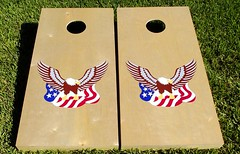 American Eagle Birch Cornhole Boards