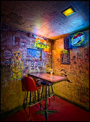 """all roads lead to The Buffet"" (bugeyed_G) Tags: arizona beer architecture bar vintage graffiti tucson interior historic tavern nik blend thebuffet bugeyedg"