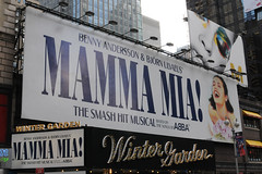 Mamma Mia Marquee @ Winter Garden Theatre on B...