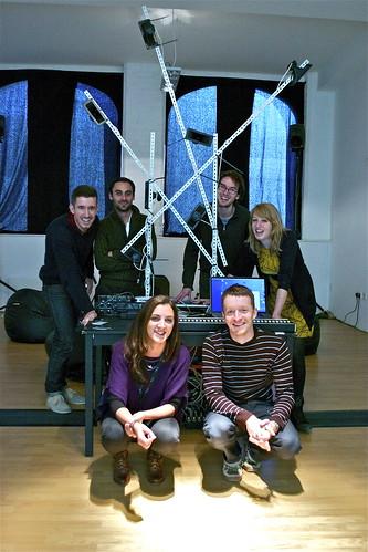 SOUNDkitchen members. Back: Chris Tarren, Julien Guillamat, James Carpenter, Shelly Knotts. Front: Annie Mahtani, Iain Armstrong