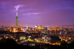 Imminent Storm (night86mare) Tags: city sunset night twilight cityscape tiger taiwan peak 101 taipei  k5  10mm