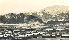 Landi Kotal Nr Peshawar in the Snow c 1920s (ronramstew) Tags: pakistan snow roofs peshawar vinage 1900s landikotal