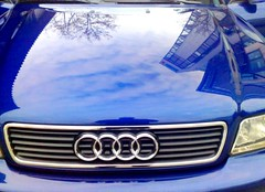 Audi - die Politur sitzt (eagle1effi) Tags: auto reflection car reflections germany bleu blau audi reflexions riflessi reflexion spiegelung reflexos reflejos reflexionen spiegelungen herma filderstadt bonlanden regionstuttgart eagle1effi
