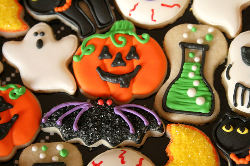 Mini Halloween Cookies.