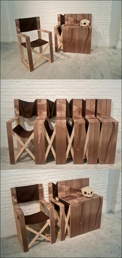 director chair with a twist: Spanish Design Studio Mr. Simon's transformer furniture.