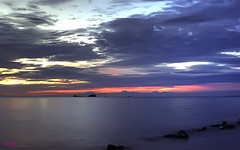 Pantai Jeram (Haryth Hayqal) Tags: sunset cloud beach nature sunrise coast pantai