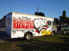 (Pastor Jim Jones) Tags: truck bread graffiti gm sd vandalism shok dre oink lcm