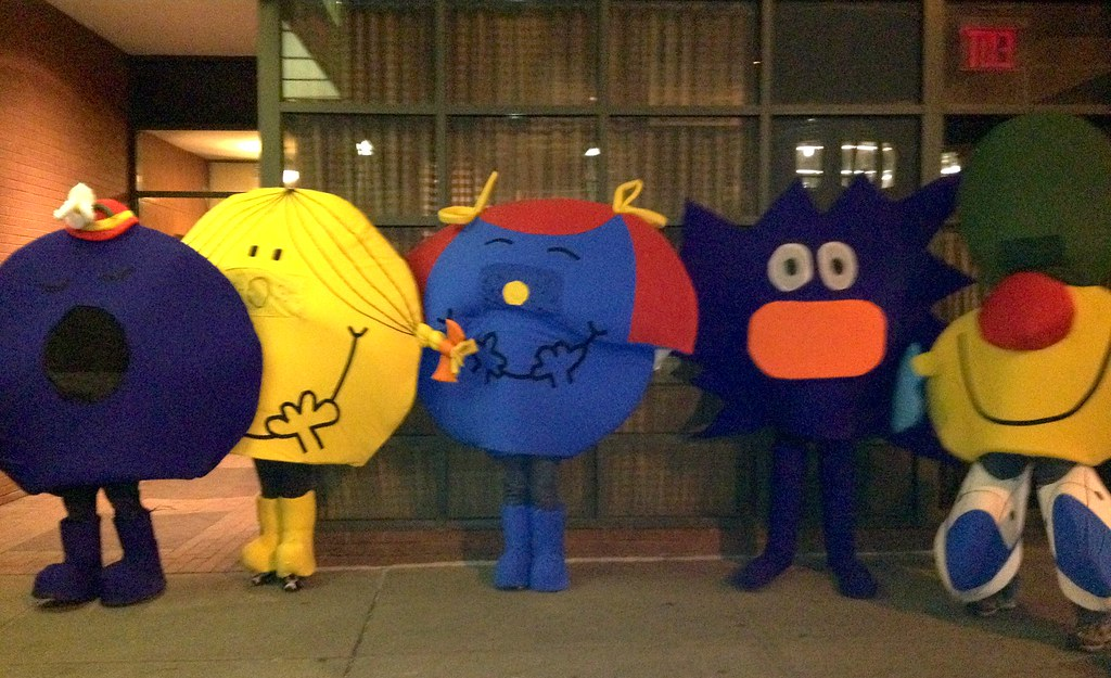 mr men and little miss at the new york halloween parade - Little Miss Sunshine Halloween Costume