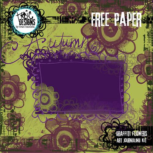 graffiti flowers digital art journaling FREE DOWNLOAD by traci bautista