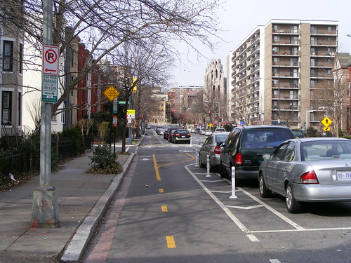 15th Street Cycle Track, Looking North