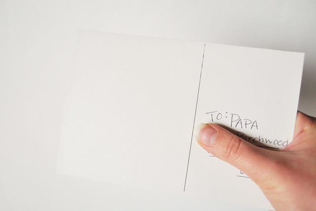 Cardboard Postcard