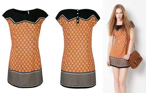Stradivarius vestido estampado estilo etnico