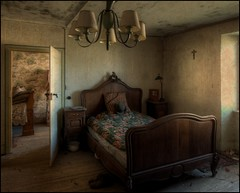 Wherever I lay my hat, that's my home. (Romany WG) Tags: abandoned farmhouse bedroom decay luxembourg urbex hauntinglybeautiful