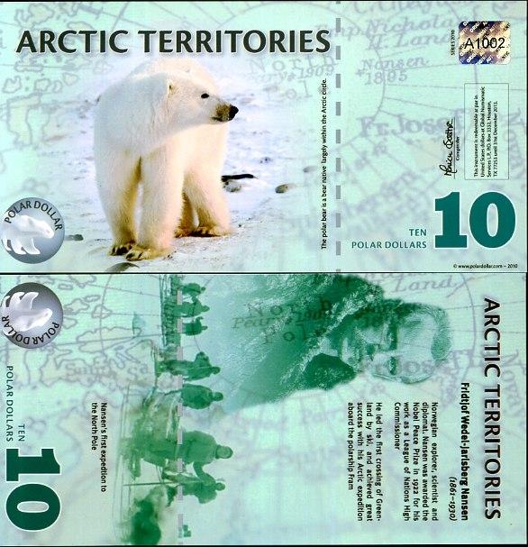 10 Polárnych dolárov Arktída 2011, polymer